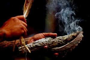 The ceremonial use of sacred smoke is an important part of my practice