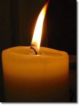 Candle A single candle is all that is needed to illuminate that which is in darkness….